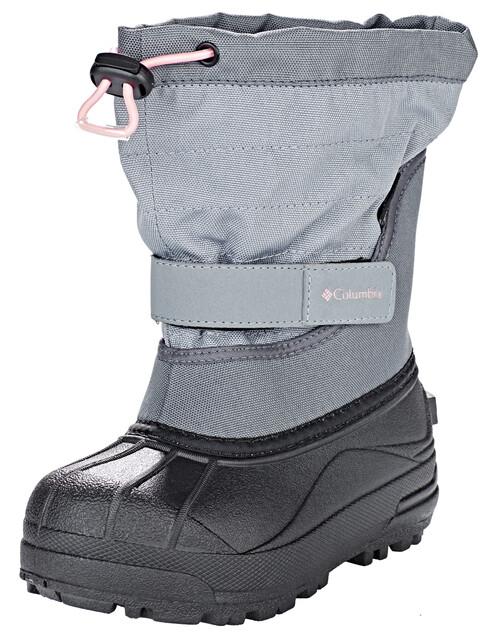 Columbia Powderbug Plus II Boots Kids, grey ash/rosewater